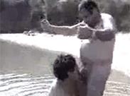 Türkische Mutter im Strand Porno gefickt