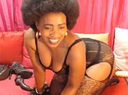 Geile Ebony Milf als Cam Girl