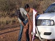 Outdoor ficken auf Safari