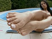 Sexy Fetisch Luder am Pool