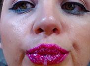Erotisches Spitting vor der Webcam