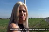 Blonde rumänische Schlampe im Amateur Porno