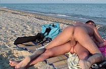 Sex am Strand ist geil